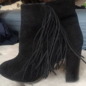 Fringed ankle boot